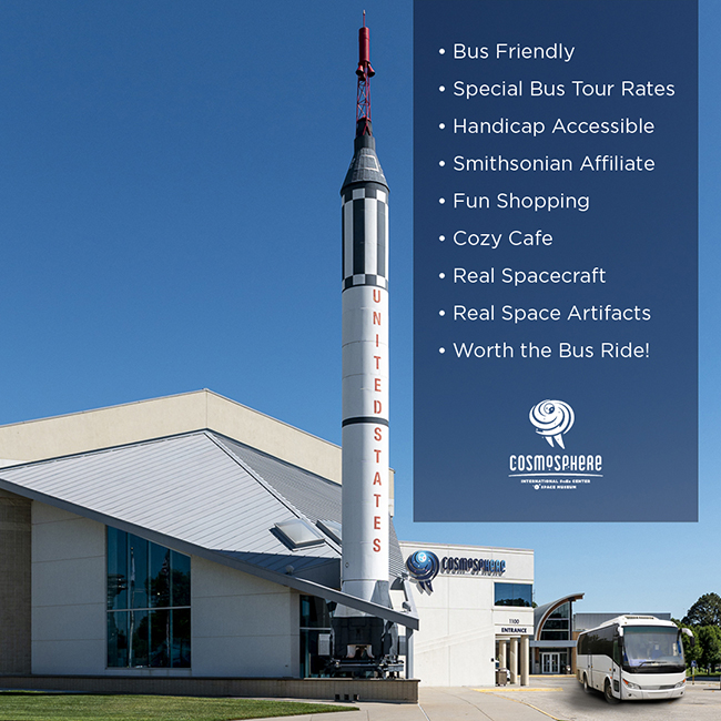 Top 10 Reasons Why Your Bus Tour Needs to Visit the Cosmosphere