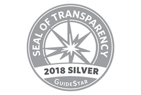 We achieved the 2018 Silver Seal From GuideStar USA